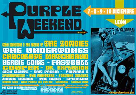 Cartel del Purple Weekend